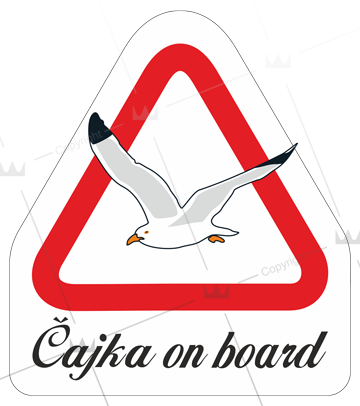 Čajka on board triangel
