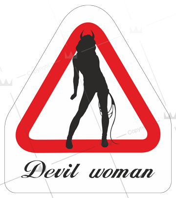 Devil woman triangel